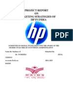 Project Report on Marketing Strategies o
