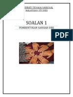 Pembentukan Sahsiah Diri- Malaysian Studies
