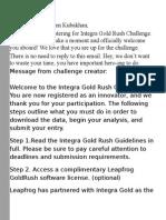 Integra Gold Rush Challenge