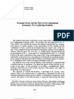 Economic Power and the Firm in New Institutional Economics Two Conflicting Problems