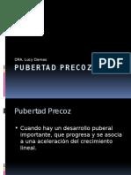 Pubertad Precoz OCT 2014