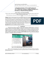 A Case Study of Implementation of Overall Equipment Effectiveness on CNC Table type boring & milling machine of a Heavy Machinery Manufacturing Industry