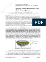 Free Vibration Analysis of Sandwich Beam Structure Using Finite Element Approach