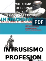 Intrusismo Profesional