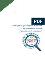 Estrategia de Gobierno Abierto del  Ayto de Madrid