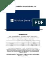 Guia de Instalación de Servidor Web en Windows Server 2012