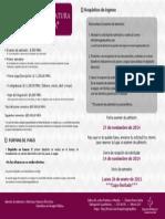 Inversión de la Licenciatura en Imagología. EXAMEN ADMISIÓN 27 NOV
