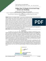 Investigation of Drilling Time V/S Depth of Cut & Kerf Using Abrasive Jet Machining