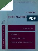 Pure Mathematics (Sixth Form) Vol.2