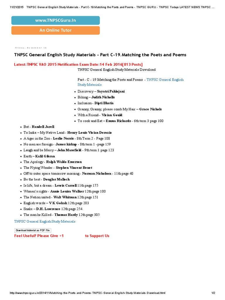 Vao study materials pdf 2015