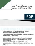 Corrientes Filosóficas y Su Influencia en La Educación