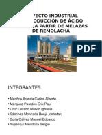 Produccion de Acido Citrico. Industrial