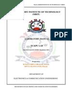 Ec&Pc Lab Manual