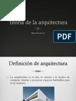 Introducción a la teoria de la arquitectura