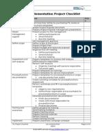 ITIL Implementation Project Checklist 20000Academy En