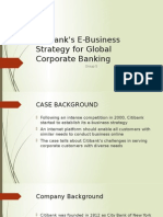 Citibank's E-Business Strategy for Global Corporate Banking
