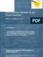 Information Needs of Org