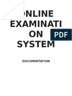 Online Exam Report