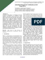 Effective Communication Protocols for Verification on SoC  Using FPGA