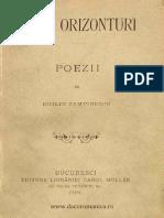 Alte Orizonturi Poezii - Duiliu Zamfirescu