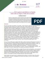 A. Mancera, La teoría de los géneros periodísticos en España