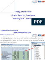 Oracle  HFM Smartview DataForm