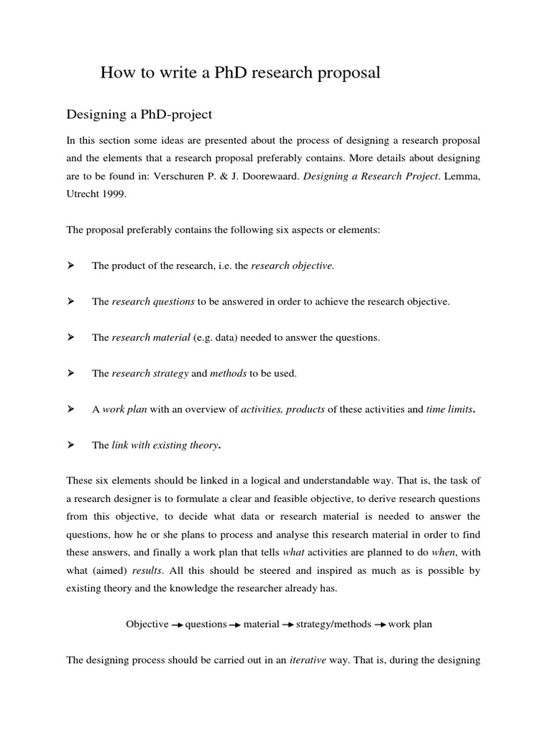 Phd Research Proposal Strategy