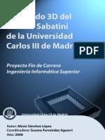 Modelado 3D del edificio Sabatini