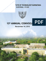 NITK Surathkal in 13th Convocation Report 2015Convocation Report2015