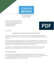 Steve Baker MP Feldman Letter