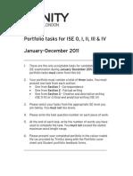 ISE Portfolio Tasks (ISE 0 - IV) 2011