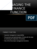 CHAPTER 12-Managing the Finance Function