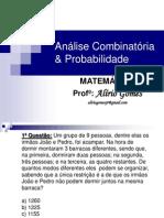 Analise combinatória Probabilidade