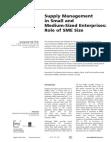 Survey Study of Small and Mediumsized Enterprises (SMEs)