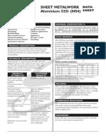 Sheet Metalwork Aluminium 5251