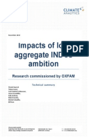Impacts of Low Aggregate INDCs Ambition: Research commissioned by Oxfam