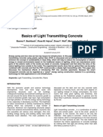 Basics of Light Transmitting Concrete