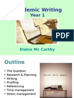 Academic Writing - 1st Years