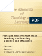 Elements of TEaching