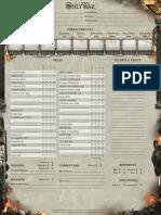Only War Character Sheet