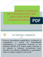 CENTRO EDUCACIONAL DE INTEGRACION DE ADULTOS NEWEN DEFINITIVA.ppt