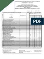 formato de lista de evaluacion