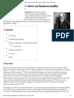 Sigmund Freud's Views on Homosexuality
