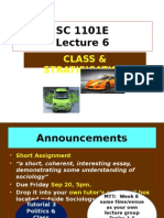 SC1101E Lect 6 Class & Stratification Sem1 2013-14