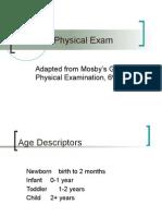 Pediatric Physical Exam (C SU07)