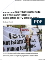 Does ISIS Really Have Nothing to Do With Islam_ Islamic Apologetics Carry Serious Risks
