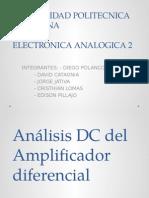 Análisis Dc amplificador diferencial