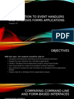 Introduction to Event Handlers and Windows Forms Applications