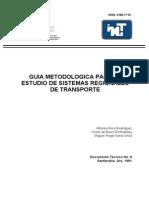GUIA METODOLOGICA PARA EL ESTUDIO DE SISTEMAS REGIONALES DE TRANSPORTE