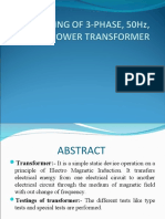 Testing of 3-Phase, 50hz, 1133kv Power Transformer